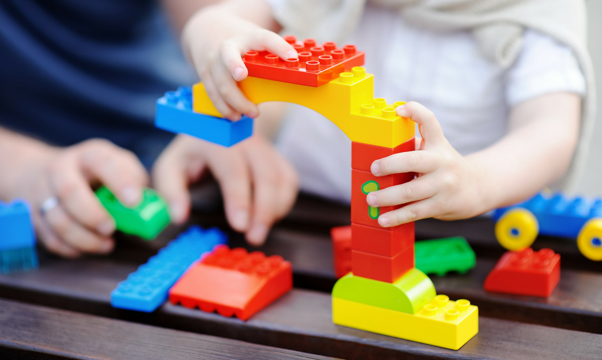 Parents can help build early math and executive functioning skills in their children through such things as building with blocks and other toys