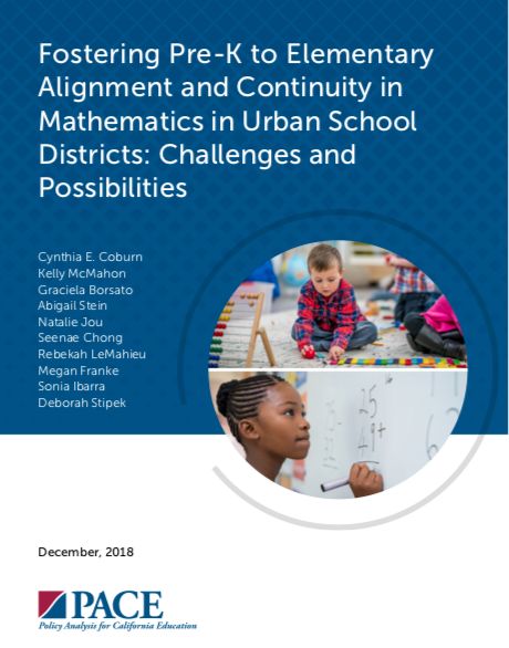 PreK through elementary alignment report
