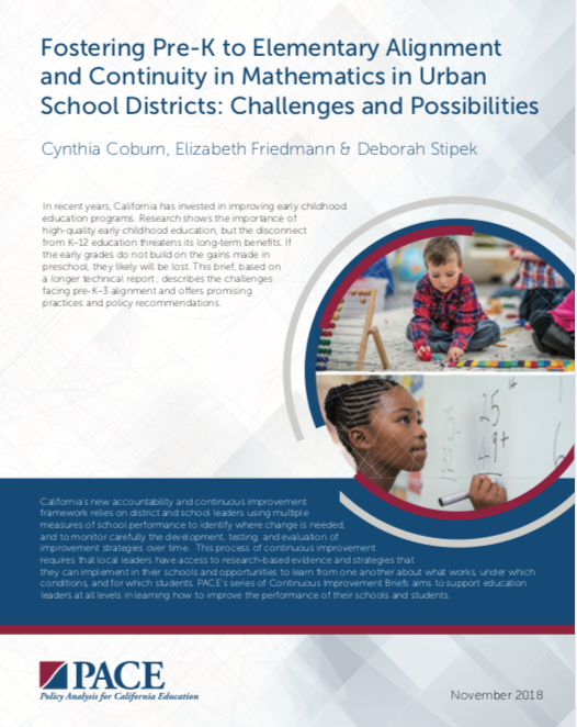 PreK to Elementary Alignment brief